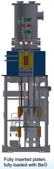 KRUSTY platen full insert with full BeO stack