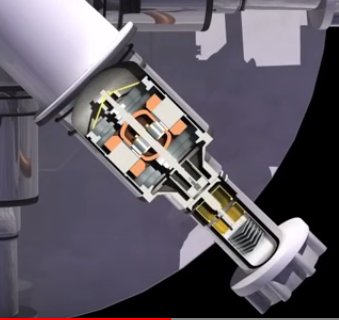 LANL Kilopower screencap Stirling closeup cutaway