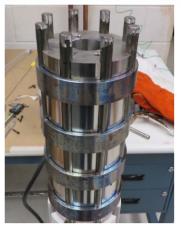Closeup of SS core prior to testing at GRC. Image courtesy NASA/LLNL