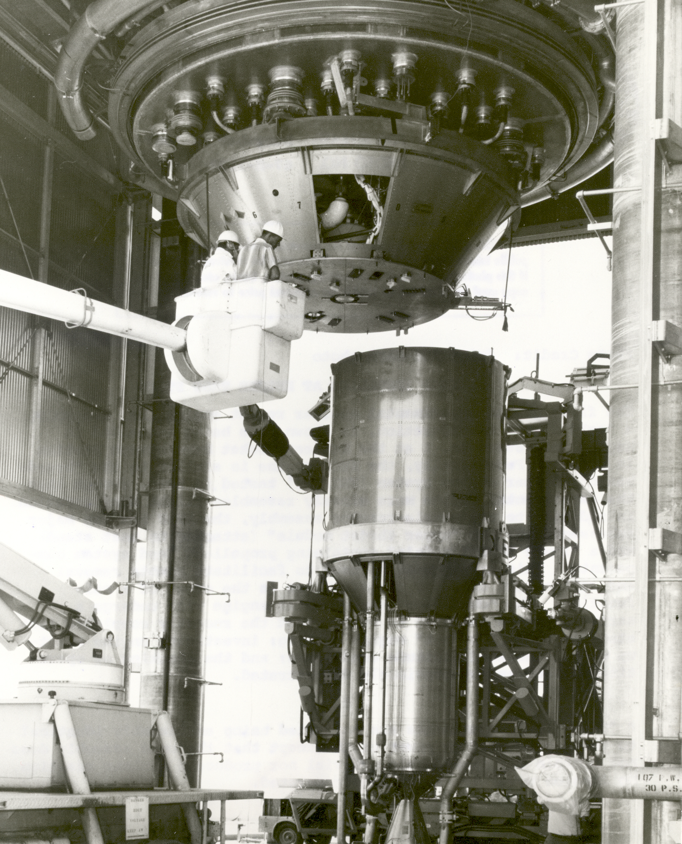 The first ground experimental nuclear rocket engine (XE) assembl