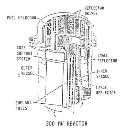 ANL 200 MW Reactor