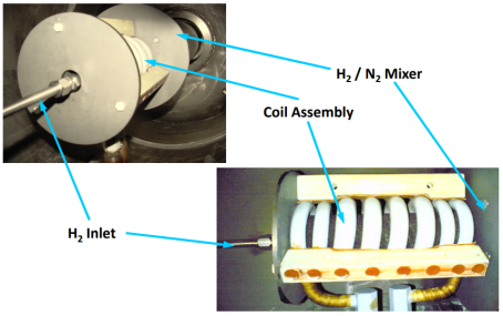 Induction coil photos with labels, Emrich 2009