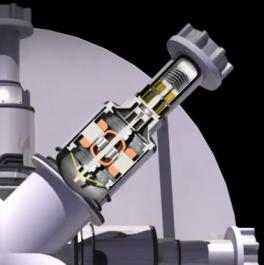 LANL Kilopower screencap Stirling closeup cutaway 2