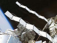 STS128 EVA radiators