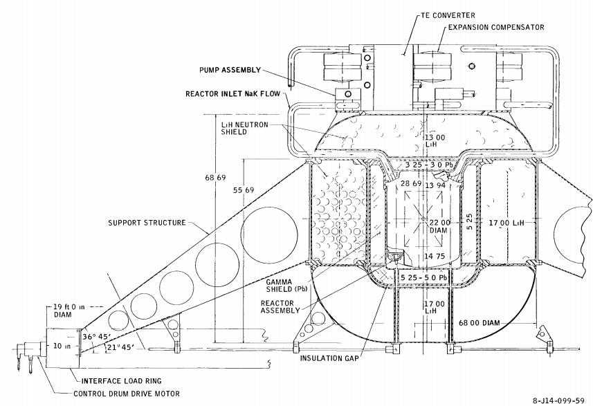 Lunar configuration cutaway